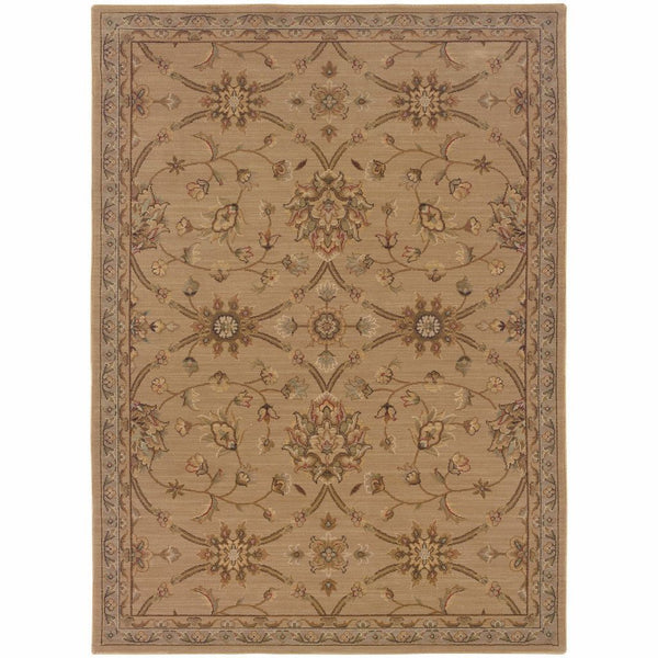 Nadira Beige Green Oriental Persian Traditional Rug - Free Shipping