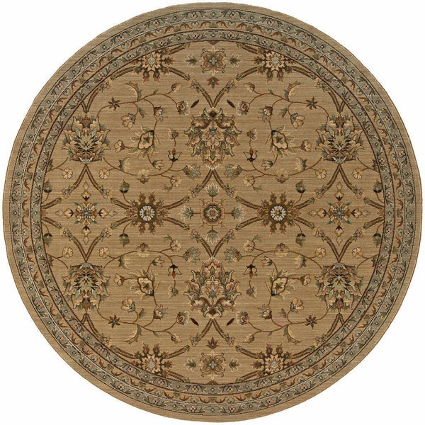 Woven - Nadira Beige Green Oriental Persian Traditional Rug