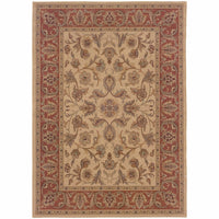 Nadira Beige Rust Oriental Persian Traditional Rug - Free Shipping