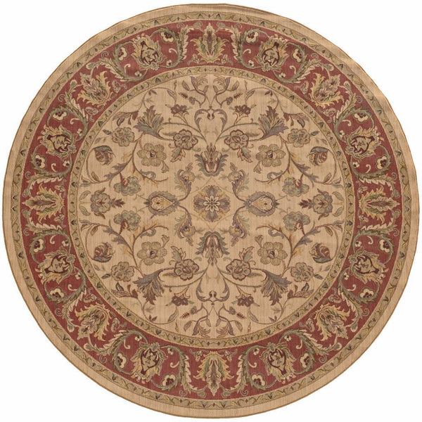 Woven - Nadira Beige Rust Oriental Persian Traditional Rug