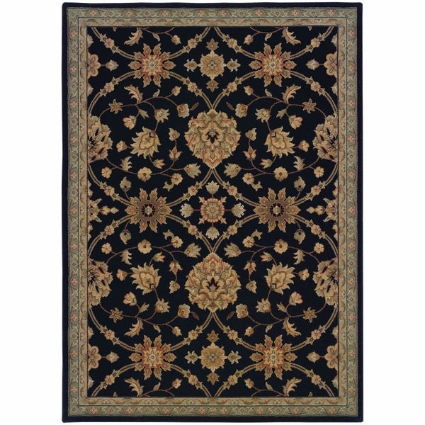 Nadira Black  Blue Oriental Persian Traditional Rug - Free Shipping