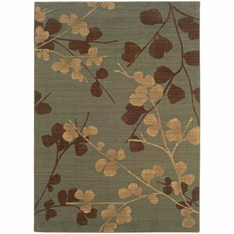 Oriental Weavers Nadira Blue Brown Floral  Transitional Rug