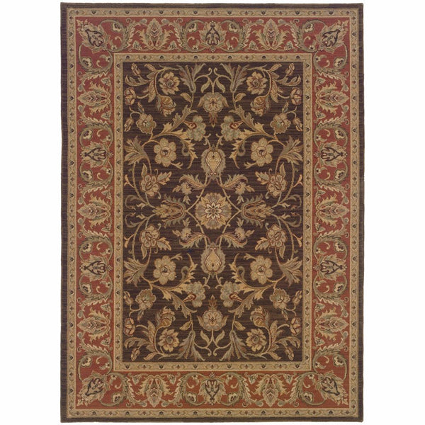 Nadira Brown Rust Oriental Persian Traditional Rug - Free Shipping