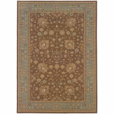 Oriental Weavers Nadira Tan Blue Oriental Persian Traditional Rug