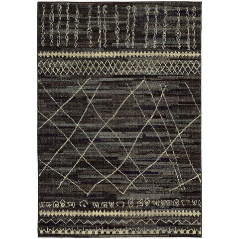 Oriental Weavers Nomad Black Beige Abstract  Contemporary Rug