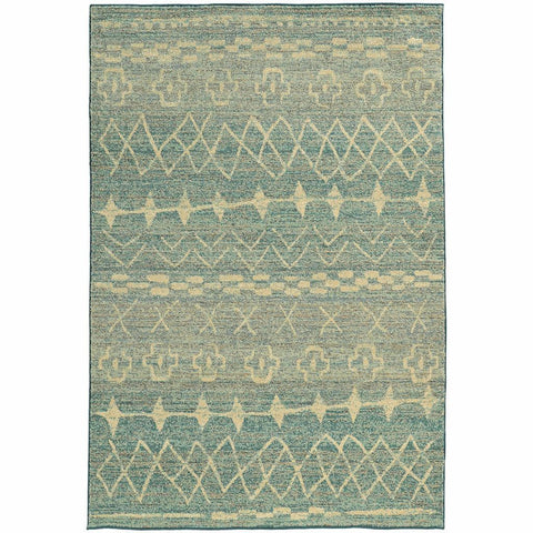 Oriental Weavers Nomad Blue Beige Abstract  Contemporary Rug