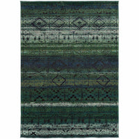 Nomad Green Blue Abstract  Contemporary Rug - Free Shipping