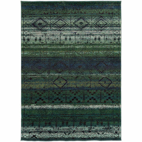 Oriental Weavers Nomad Green Blue Abstract  Contemporary Rug