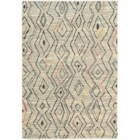 Nomad Ivory Multi Abstract  Contemporary Rug - Free Shipping