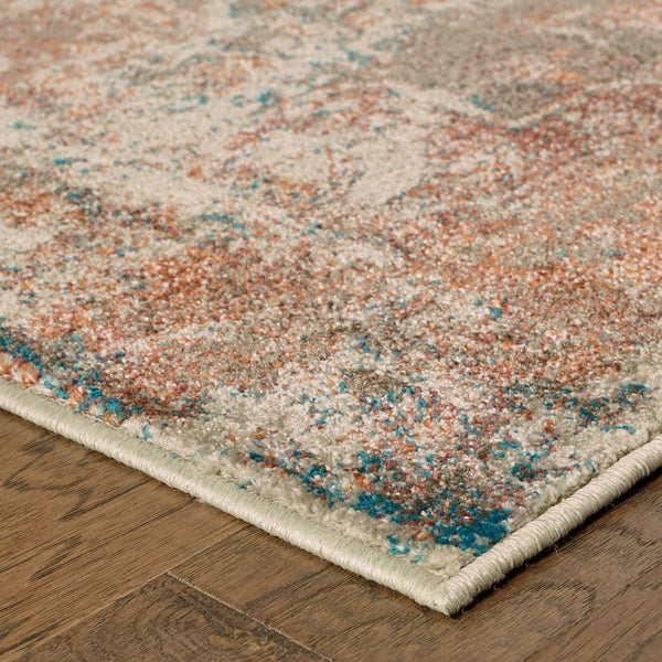 Woven - Pasha Beige Multi Distressed Abstract Contemporary Rug