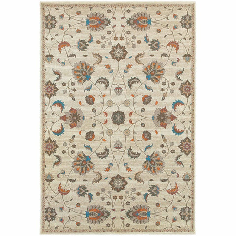 Oriental Weavers Pasha Beige Multi Floral Botanical Traditional Rug