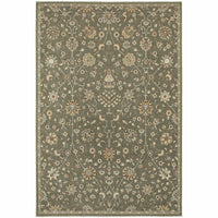 Pasha Grey Multi Floral Botanical Traditional Rug - Free Shipping