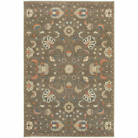 Oriental Weavers Pasha Grey Multi Floral Botanical Traditional Rug