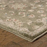 Woven - Pasha Grey Multi Floral Botanical Traditional Rug