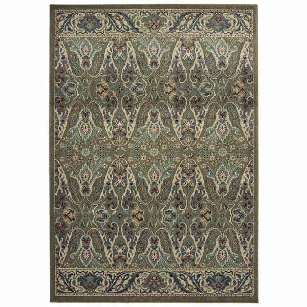 Raleigh Brown Ivory Floral Floral Casual Rug - Free Shipping