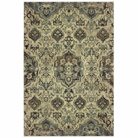 Oriental Weavers Raleigh Ivory Grey Oriental Tribal Traditional Rug