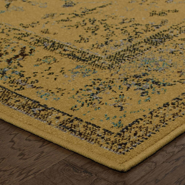 Woven - Revival Gold Grey Oriental Overdyed Traditional Rug
