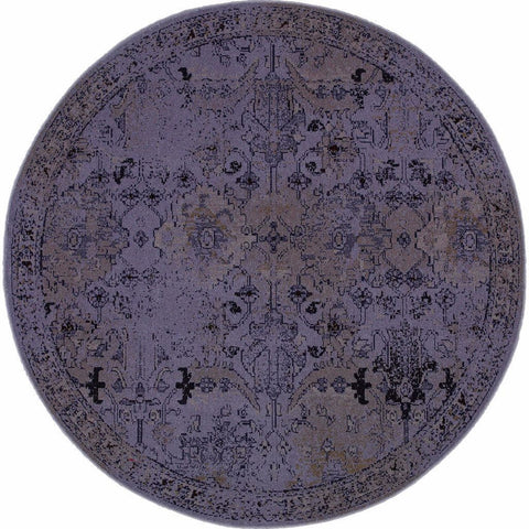 Oriental Weavers Revival Grey Black Oriental Overdyed Transitional Rug