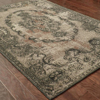 Woven - Revival Grey Black Oriental Overdyed Transitional Rug