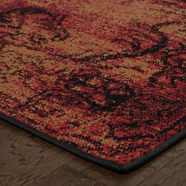 Woven - Revival Pink Yellow Oriental Overdyed Traditional Rug