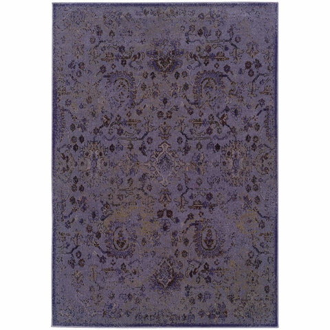 Oriental Weavers Revival Purple Beige Oriental Overdyed Transitional Rug