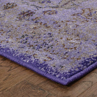 Woven - Revival Purple Beige Oriental Overdyed Transitional Rug