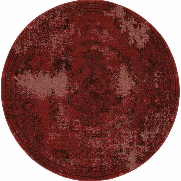 Woven - Revival Red Black Oriental Overdyed Transitional Rug