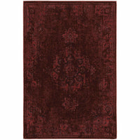 Revival Red Pink Oriental Overdyed Traditional Rug - Free Shipping