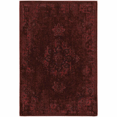 Oriental Weavers Revival Red Pink Oriental Overdyed Traditional Rug