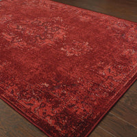 Woven - Revival Red Pink Oriental Overdyed Traditional Rug