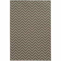 Riviera Grey Blue Geometric Chevron Outdoor Rug - Free Shipping