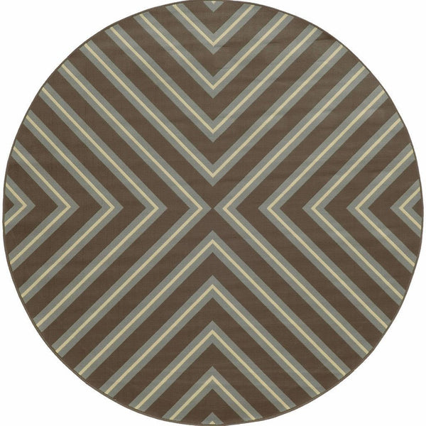 Woven - Riviera Grey Blue Geometric  Outdoor Rug