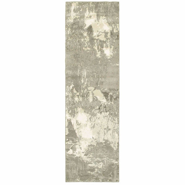 Woven - Rowan Ivory Grey Abstract  Contemporary Rug