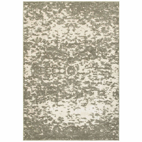 Oriental Weavers Rowan Ivory Grey Abstract Distressed Casual Rug