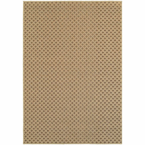Santa Rosa Brown Sand Solid Lattice Transitional Rug
