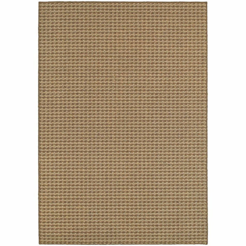 Santa Rosa Brown Sand Solid Outdoor Transitional Rug