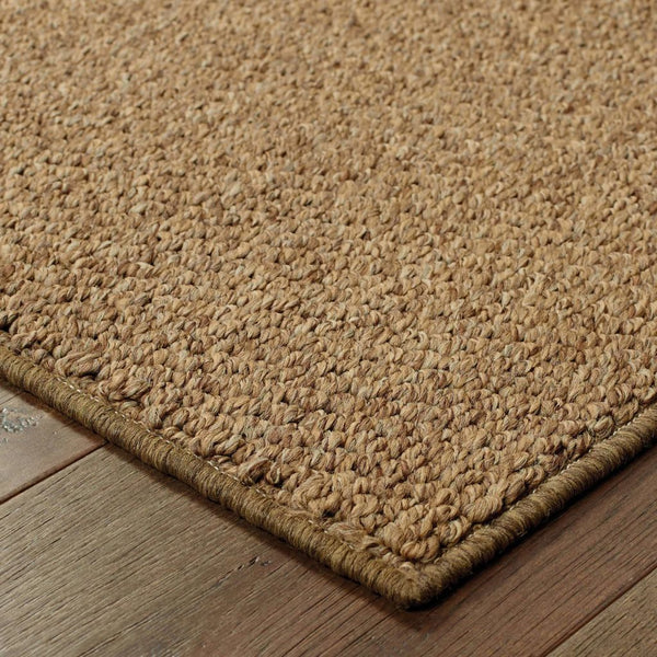 Woven - Santa Rosa Brown Tan Solid Outdoor Transitional Rug