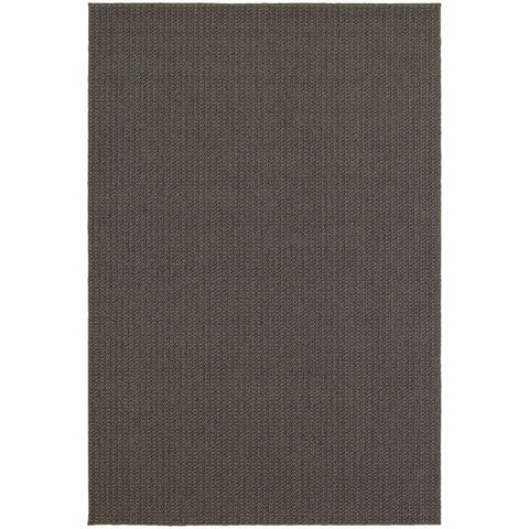 Santa Rosa Charcoal Grey Solid Outdoor Transitional Rug