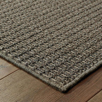 Woven - Santa Rosa Charcoal Grey Solid Outdoor Transitional Rug
