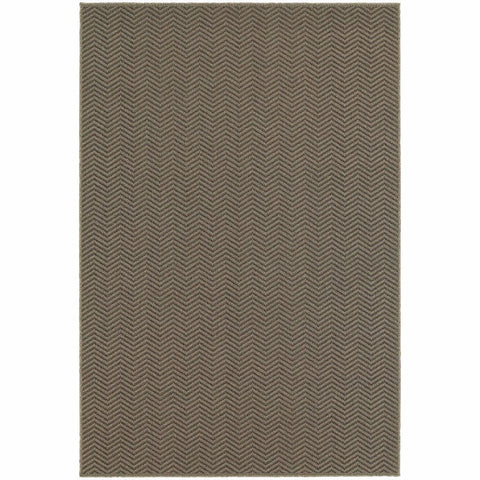 Santa Rosa Grey Charcoal Solid Chevron Transitional Rug