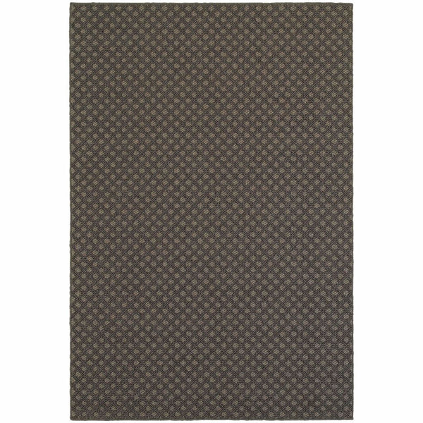 Santa Rosa Grey Charcoal Solid Lattice Transitional Rug - Free Shipping