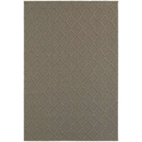 Oriental Weavers Santa Rosa Grey Grey Geometric Lattice Transitional Rug