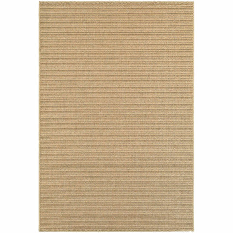 Oriental Weavers Santa Rosa Sand Tan Solid Stripe Transitional Rug