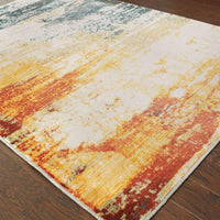 Woven - Sedona Blue Red Abstract Distressed Contemporary Rug