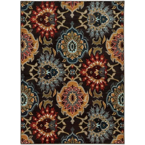 Sedona Grey Multi Floral  Transitional Rug