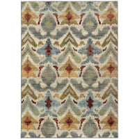 Sedona Ivory Grey Abstract Tribal Transitional Rug - Free Shipping