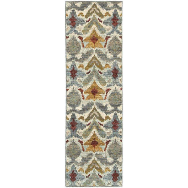Woven - Sedona Ivory Grey Abstract Tribal Transitional Rug