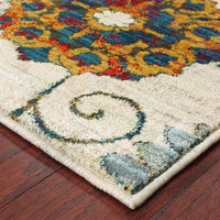 Woven - Sedona Ivory Multi Floral  Transitional Rug