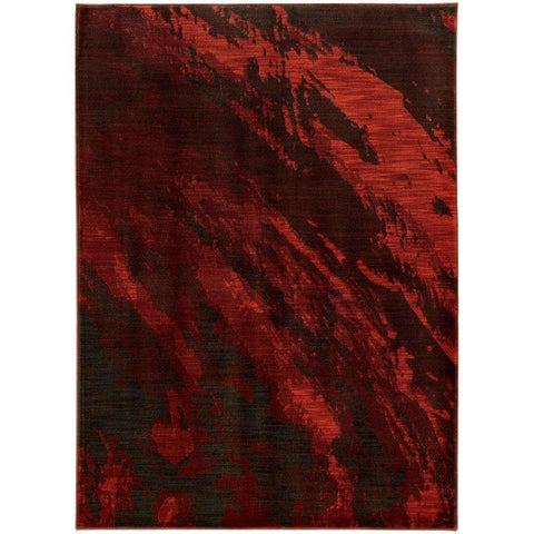 Sedona Red Grey Abstract Marble Contemporary Rug
