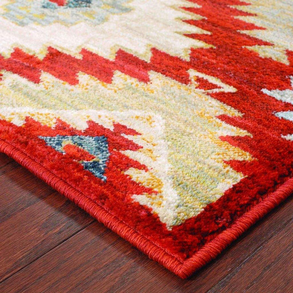 Woven - Sedona Red Multi Geometric Southwest/Lodge Transitional Rug